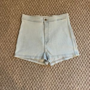 American Apparel stretchy Jean shorts